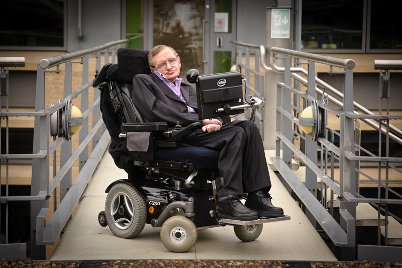 Professor Stephen William Hawking, CH, CBE, FRS, FRSA, at the Department of Applied Mathematics and Theoretical Physics, University of Cambridge..Photograph © Jason Bye.t: 07966 173 930.e: mail@jasonbye.com.w: http://www.jasonbye.com.